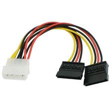 13cm 4 PIN IDE MOLEX a doppia 2 SATA 4 pin 15 pin HARD DRIVE POWER Splitter Cavo