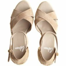 Castaner Women's Buti Suede Natural Espadrille Sandals Wedges New Size 41 US 10