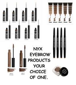 NYX Eyebrow Gel, Powder Brow Filler, Tinted Mascara, Pomade, Sculpt & Highlight