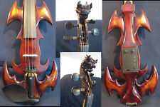 NEW model crazy -1 SONG carved dragon head 4/4 electric violin,solid wood#12055