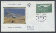 FRANCE FDC - A 60 1 AVION DEWOITINE 338 - 11 Avril 1987 - LUXE sur soie