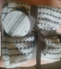 Wash Cloth-100% Cotton 12x12 inches set of 6 - Face/finger/Wash Cloth white grey
