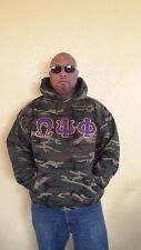 Omega Psi Phi Camouflage Hoodie- 2XL