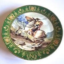 "Placa de Limoges d'arceau ""Bonaparte cruzando los Alpes"" Josephine & Napoleón Serie"