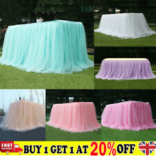 Tutu Tulle Table Skirt Tableware Table Cloth Cover Home Wedding Party Decor IBUK