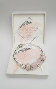 16th 18th 21st 30th 40th 50th 60th Girls  Ladies Birthday Bracelet Gift Present