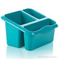 Cutlery Drainer Blue Washing Up Rack Kitchen Drainer Large Sink Tidy Storage Tub