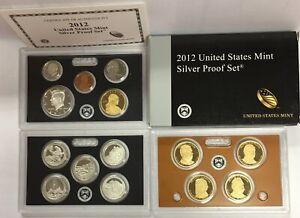 2012-S US Mint Silver Proof Set in OGP & COA