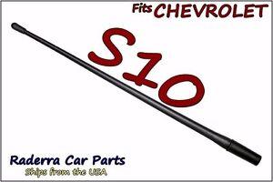 "FITS: 1982-2003 Chevy S10 - 13"" SHORT Custom Flexible Rubber Antenna Mast"