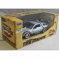 MINT=BOXED=BACK TO THE FUTURE lII = DELOREAN=TIME MACHINE= = 1:24 SCALE =