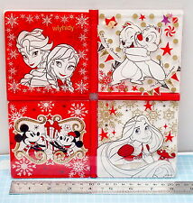 Japan Disneystore Mickey Minnie Frozen Chip Tangled Table Pad For Drinks 4pcs
