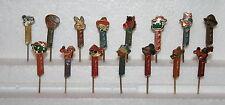 PEZ - complete set of 15 vintage pins Yugoslavia 70's Disney RARE no feet