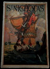 St Nicholas Magazine October 1924  ALBERT HERTER - PINNACLES - PALMER COX - SHIP