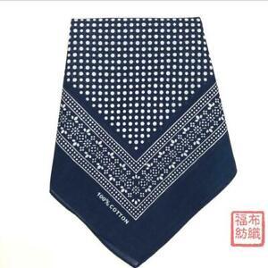 100% Cotton Handkerchiefs Polka Dot Print Square Kerchiefs Bandana Hanky 55*55CM