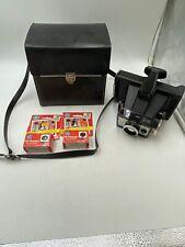 VTG Black Polaroid Camera Case Faux Leather Bag Shoulder Strap