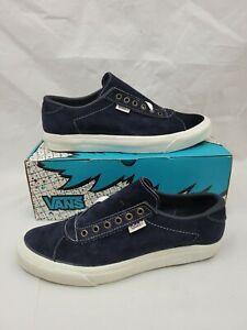 Vintage VANS shoes Epoch Navy Suede Made in USA Size 11 BMX Skateboarding sk8 hi