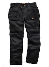 Scruffs Worker Plus Trousers Combat Cargo Work Pants Black 32 29