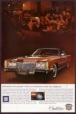 1972 Original Vintage Cadillac Eldorado Car Photo Print Ad