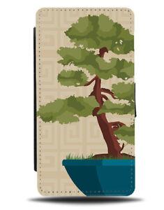Japanese Bonsai Tree Painting Flip Wallet Case Plant Plants Asian Japan J620