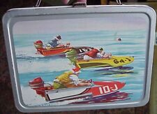 Vintage BOATING Metal Lunch Box  byTHERMOS 1959 MINTY-Almost No WEAR!