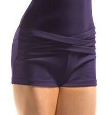 NWT Dance Jozette Mirella Black Mesh Weave Booty Shorts Small Adult MJ7001