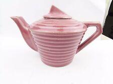 ANTIQUE EARLY PINK ART DECO TEA FOR ONE  TEAPOT TEA POT COFFEE BREW
