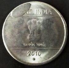 India Republic One Rupee 2010-H extra metal error coin.