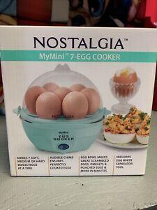 Nostalgia MyMini 7-Egg Cooker Teal