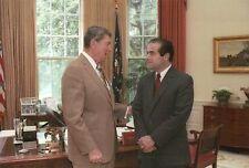 President Ronald Reagan & Future Supreme Court Justice Antonin Scalia - Postcard