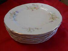 "Beautiful CROWN Potteries USA Evansville,Ind. ..6 BREAD-SALAD-DESSERT 7"" Plates"