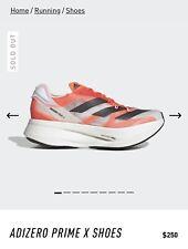 Adidas Adizero Prime X Shoes Size 10 G54976 Cloud White / Carbon / Solar Red