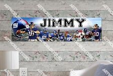 Personalized/Customized New York Giants Name Poster Wall Art Decoration Banner