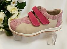 Enfants Filles Femmes Chaussures baskets cuir véritable Fabriqué Italie FUCHSI