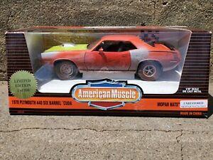Ertl American Muscle 1970 Plymouth 440 Cuda Mopar Unrestored 1:18 Diecast Car LE