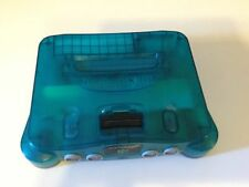 Nintendo 64 Ice Blue Teal Funtastic Series N64 Console System Tested Works AS-IS