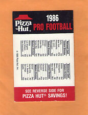 1986 NFL FOOTBALL OFFICIAL POCKET GAME SCHEDULE PIZZA HUT