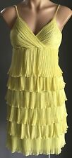 NWOT Pale Lime Green F GEAR Sleeveless Tier Dress Size 12 - Stunning!