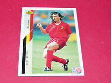 RUDY SMIDTS BELGIË DIABLES ROUGES FOOTBALL CARD UPPER USA 94 PANINI 1994 WM94