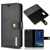 100% Genuine Leather Wallet Case with RFID Blocking For Samsung Galaxy S8 Plus