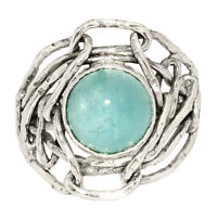 Aquamarine - Brazil 925 Sterling Silver Ring Jewelry s.8 BR18761 210E XGB