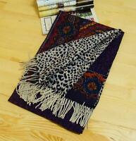 Mother's Day Gift Jacquard Long Cashmere Wool Blend Soft Warm Wrap Shawl Scarf