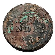Authentic 1826 Copper Duit Shipwreck Coin VOC Indonesian Dutch Relic Old A8