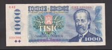 1000 KORUN VERY FINE BANKNOTE FROM CZECHOSLOVAKIA 1985 PICK-98