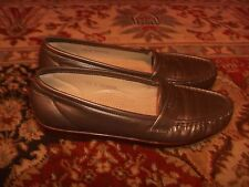 SAS Silver Metallic Loafers Womens Size 9.5S