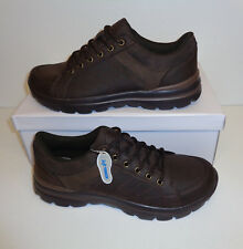 Mens Memory Foam Trainers Walk Pro Black / Brown Lace Up Shoes New UK Sizes 8-11