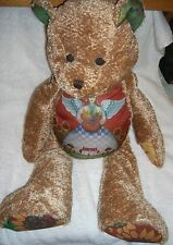 """Boyds Jim Shore Plush Bear Quilted Angle Design Jointed County Sunflower 20"""""""
