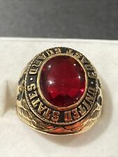 9 redstone 18 k gold plated estare jewelry New listing mens ring coast guard red stone size