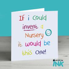 Nursery Leaving Card - Thank You Teacher - Nursery Nurse