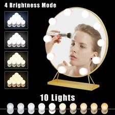 Hollywood Style Led Vanity Mirror Lights Kit 10 Dimmable Light Bulbs For Makeup
