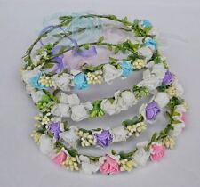 Women Girls Wedding beach Bohemian Braided Flower Crown Hair Headband